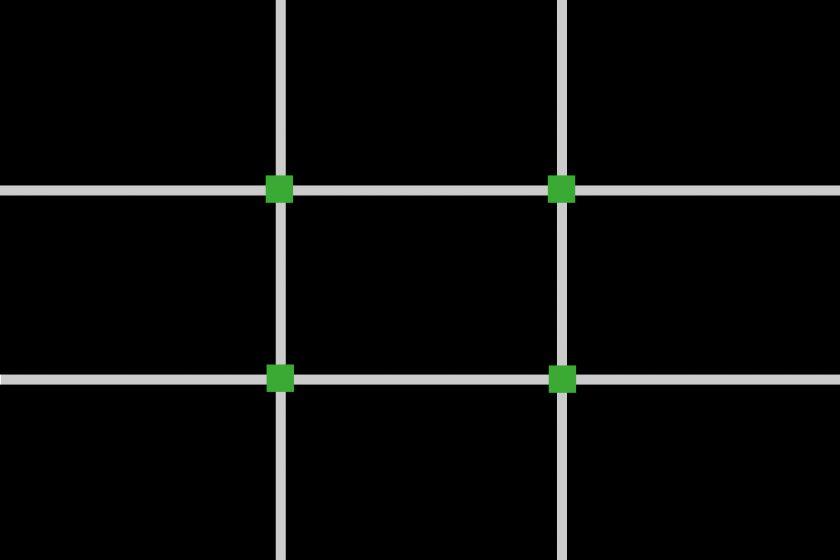 Drittel-Regel Raster 2 - Schnittpunkte
