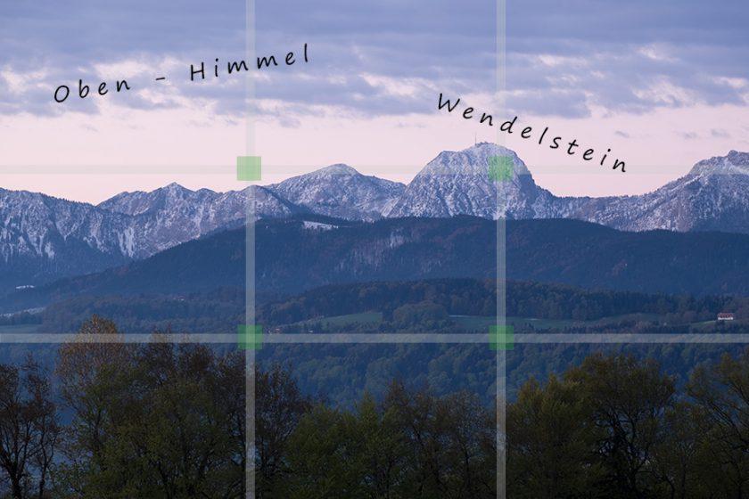 Drittel-Regel Raster - Beispiel anhand eines Fotos