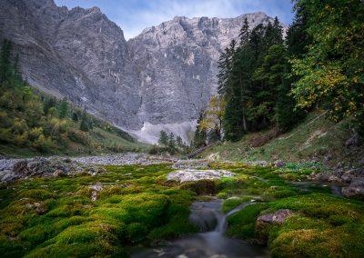 Bachlauf in Eng (Tirol) - Langzeitbelichtung