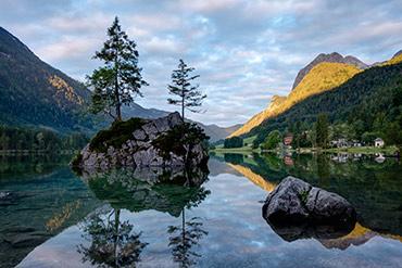 Sonnenaufgang am Hintersee - www.matthias-foto.de