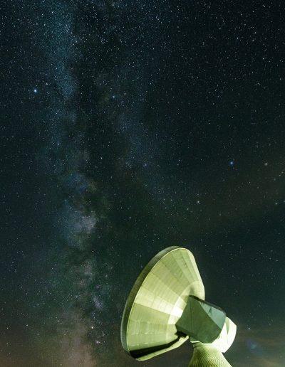 Milchstraße an der Erdfunkstelle