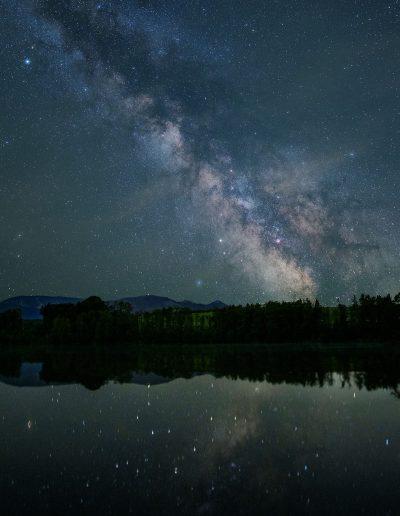 Milchstraßen Spiegelung im See