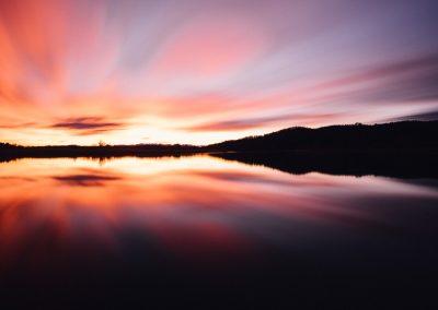 Sonnenaufgang am Seehamer See
