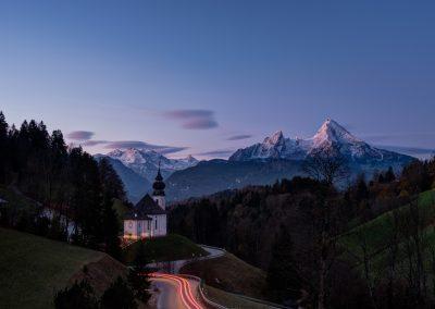 Wallfahrtskirche Maria Gern - Langzeitbelichtung